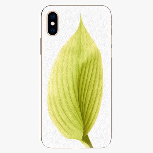 Plastový kryt iSaprio - Green Leaf - iPhone XS