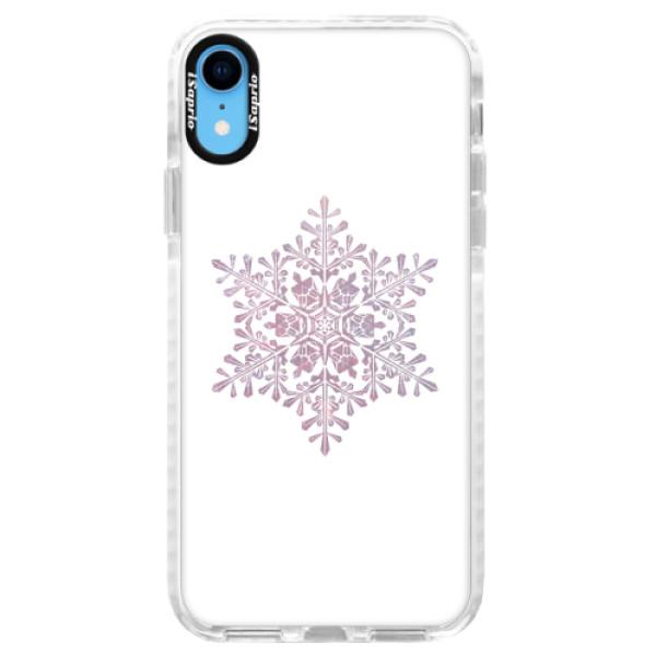 Silikonové pouzdro Bumper iSaprio - Snow Flake - iPhone XR