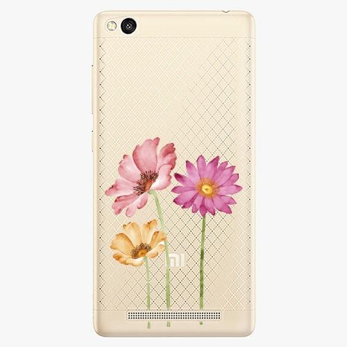 Plastový kryt iSaprio - Three Flowers - Xiaomi Redmi 3