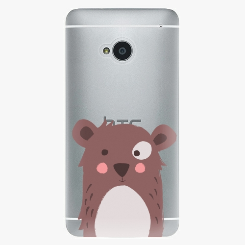 Plastový kryt iSaprio - Brown Bear - HTC One M7