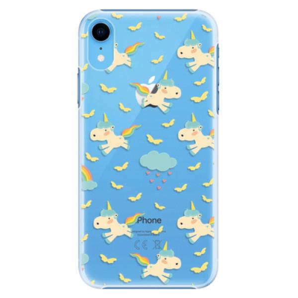 Plastové pouzdro iSaprio - Unicorn pattern 01 - iPhone XR
