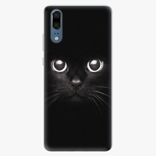 Silikonové pouzdro iSaprio - Black Cat - Huawei P20