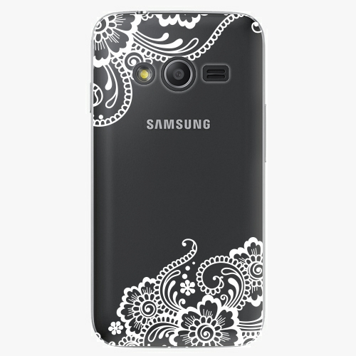 Plastový kryt iSaprio - White Lace 02 - Samsung Galaxy Trend 2 Lite