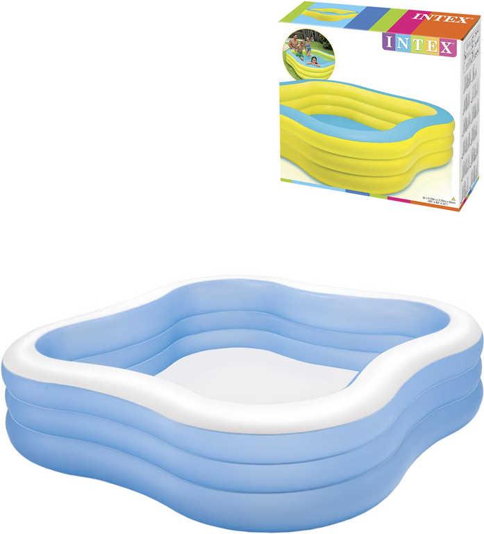 INTEX Bazén nafukovací rodinný 229x229cm žluto-modrý na vodu 57495