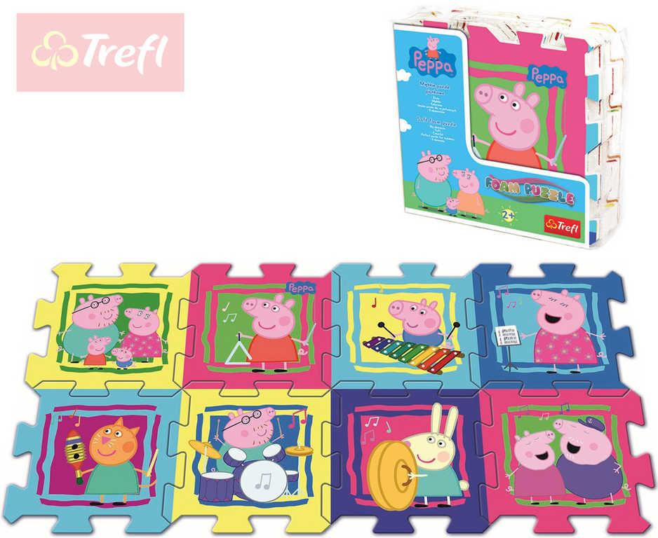 TREFL Baby soft puzzle pěnové Peppa Pig měkké bloky koberec na zem