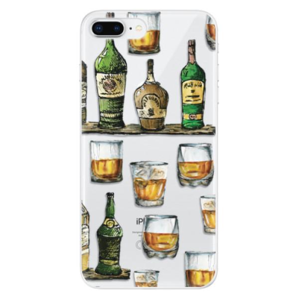 Odolné silikonové pouzdro iSaprio - Whisky pattern - iPhone 8 Plus