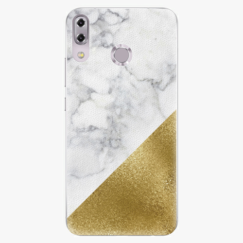 Plastový kryt iSaprio - Gold and WH Marble - Asus ZenFone 5Z ZS620KL