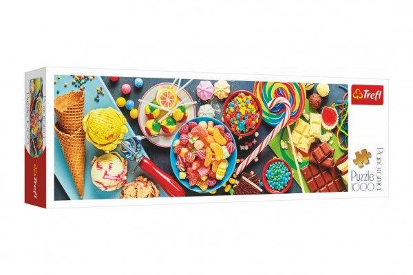 Teddies Puzzle Sladké potěšení, 1000 dílků, 97 x 34 cm