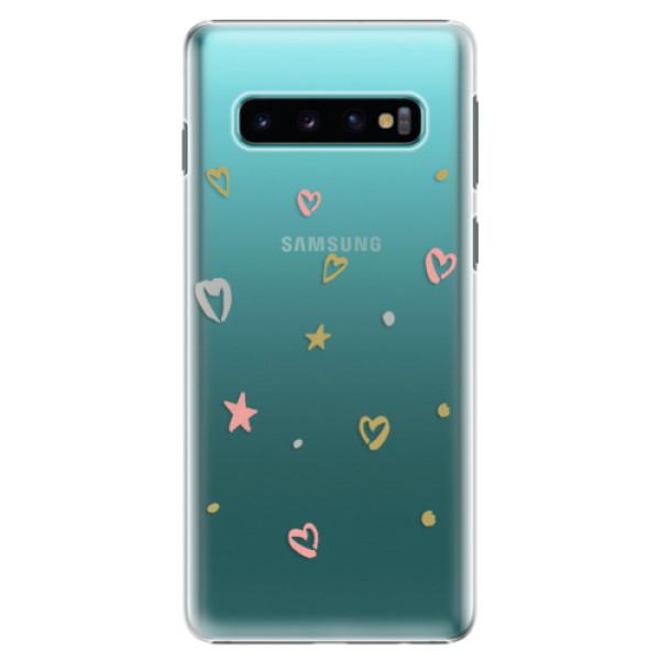 Plastové pouzdro iSaprio - Lovely Pattern - Samsung Galaxy S10