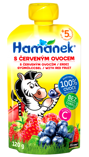 Hamánek Kojenecká výživa Svačinka Červené ovoce 120g