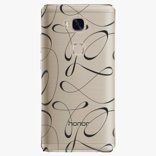Plastový kryt iSaprio - Fancy - black - Huawei Honor 5X