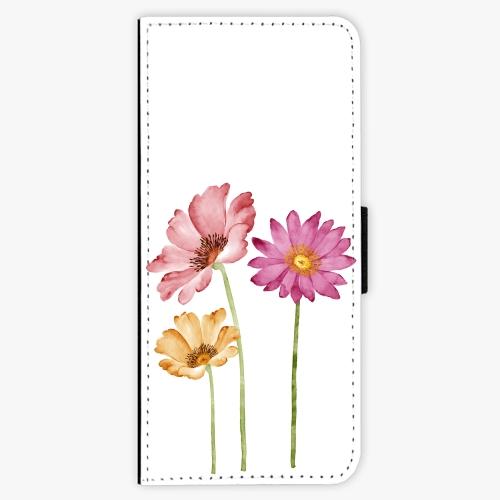 Flipové pouzdro iSaprio - Three Flowers - Samsung Galaxy J3