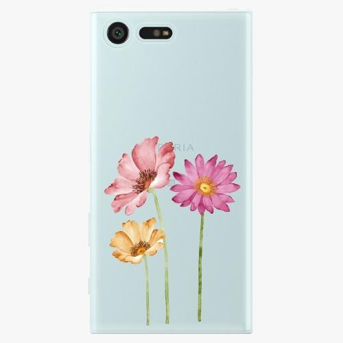 Plastový kryt iSaprio - Three Flowers - Sony Xperia X Compact