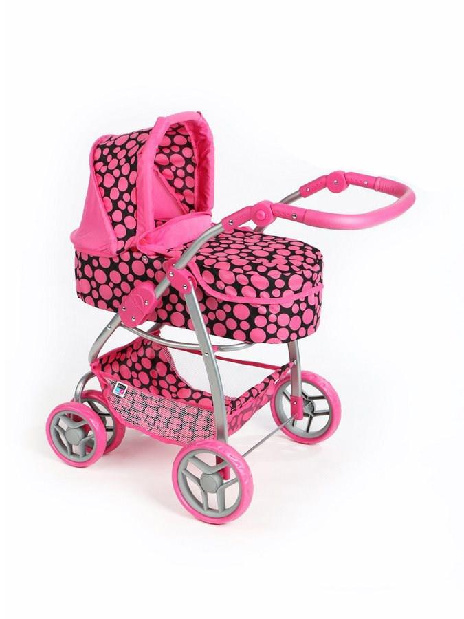 Multifunkční kočárek pro panenky PlayTo Jasmínka - růžový (poškozený obal) - dle obrázku