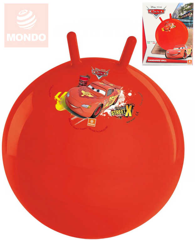 MONDO Míč nafukovací skákací Auta (Cars) 50cm hopsadlo klučičí červené