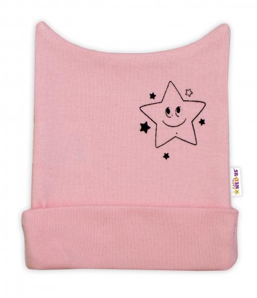 Novorozenecká čepička Baby Nellys, Baby Little Star