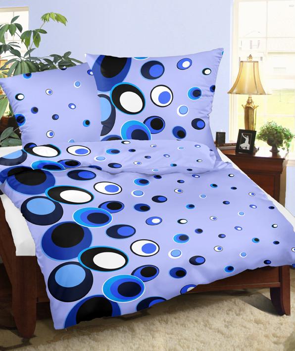 Povlaky flanel Ornela modrá, Výběr rozměru: - 40x40