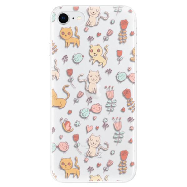 Odolné silikonové pouzdro iSaprio - Cat pattern 02 - iPhone SE 2020