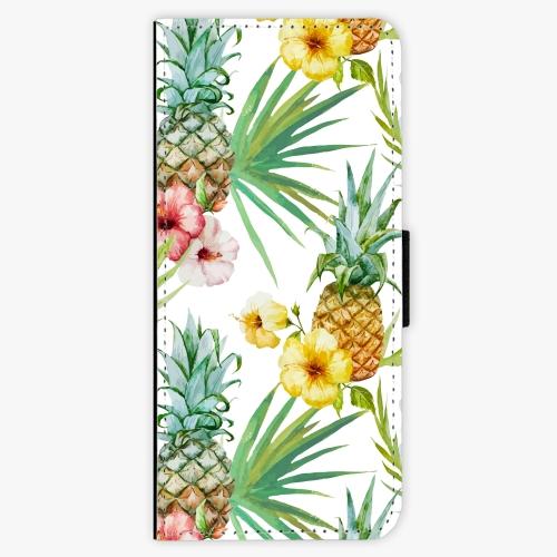 Flipové pouzdro iSaprio - Pineapple Pattern 02 - Samsung Galaxy J3