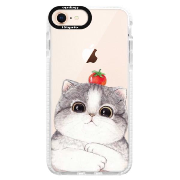 Silikonové pouzdro Bumper iSaprio - Cat 03 - iPhone 8
