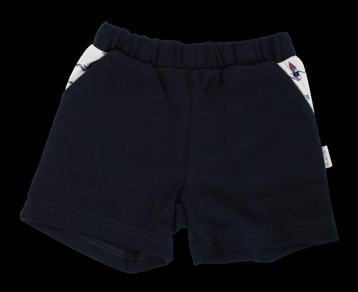 Kojenecké bavlněné kalhotky, kraťásky Mamatti Maják - granátové, vel.