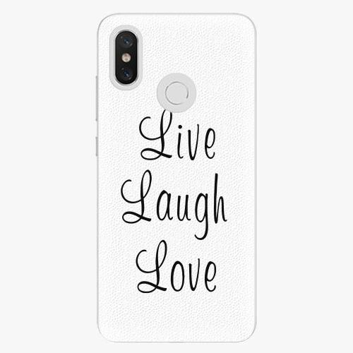 Plastový kryt iSaprio - Live Laugh Love - Xiaomi Mi 8