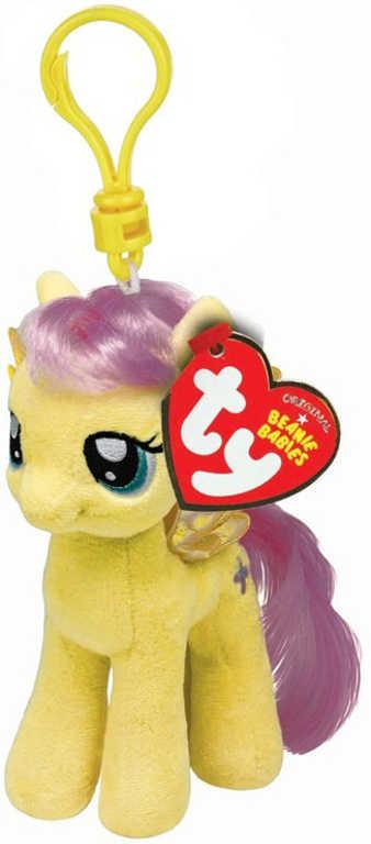 PLYŠ Klíčenka TY My Little Pony Fluttershy 11cm přívěsek na klíče