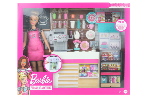 Barbie Kavárna s panenkou GMW03