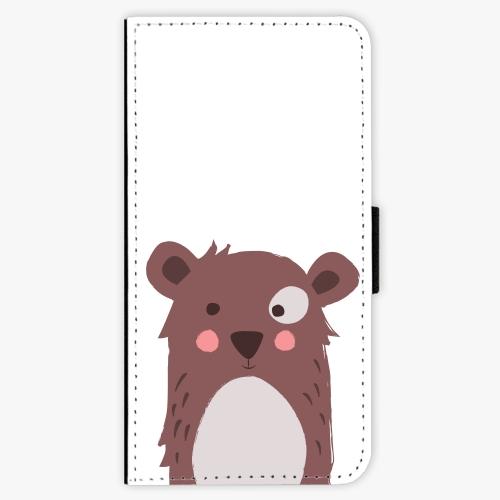 Flipové pouzdro iSaprio - Brown Bear - Lenovo Moto G5 Plus