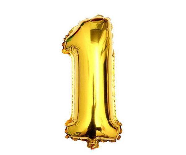 Nafukovací balónky čísla maxi zlaté - 1