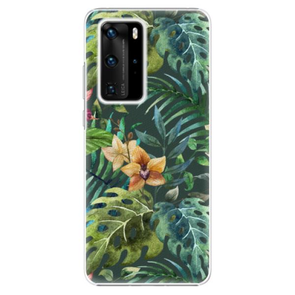 Plastové pouzdro iSaprio - Tropical Green 02 - Huawei P40 Pro