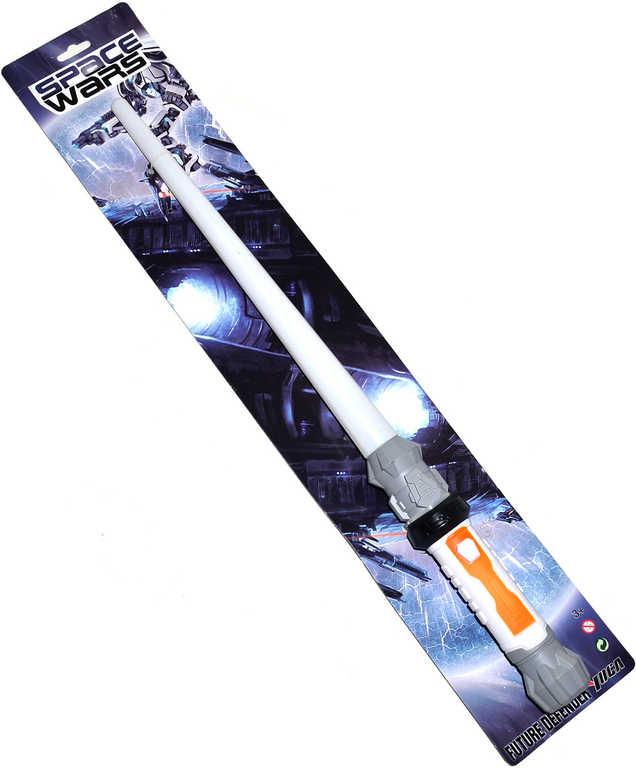 Meč vesmírný 57cm plastový na baterie Světlo Zvuk na kartě