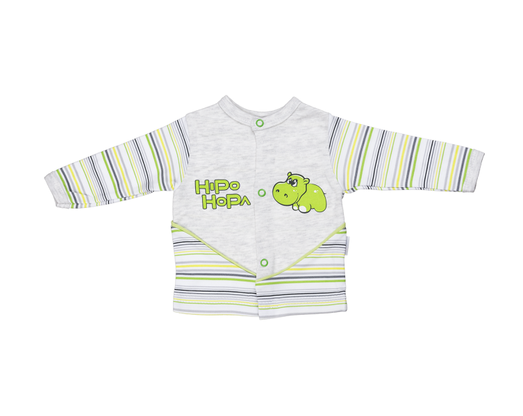 Bavlněná košilka Mamatti - Hippo - 80 (9-12m)