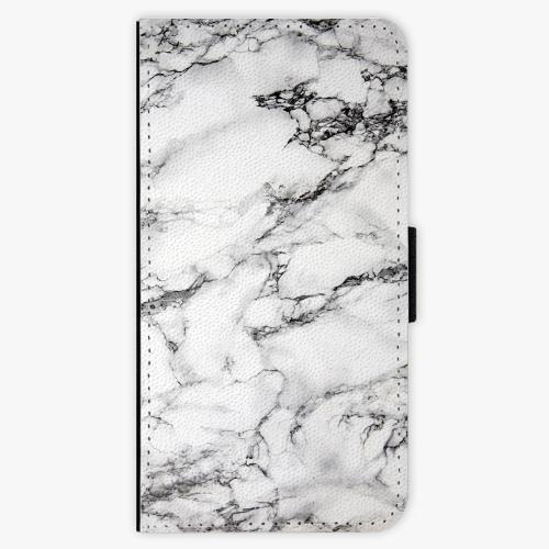 Flipové pouzdro iSaprio - White Marble 01 - Huawei Ascend P8
