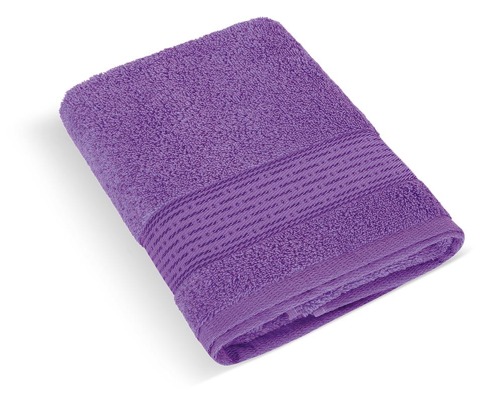 Froté ručník 50x100cm proužek 450g fialová