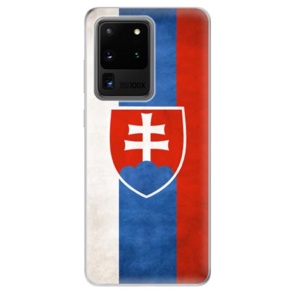 Odolné silikonové pouzdro iSaprio - Slovakia Flag - Samsung Galaxy S20 Ultra