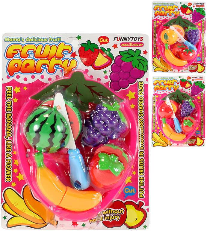 Sada krájecí na suchý zip set ovoce 4ks s prkénkem a nožíkem v sáčku - 3 druhy