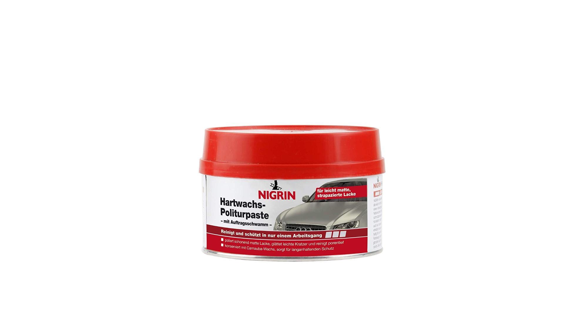Nigrin Tvrdý vosk - lešticí pasta, 250ml, čistí, vyhlazuje a zachovává všechny opotřebované barevné laky a metalízy