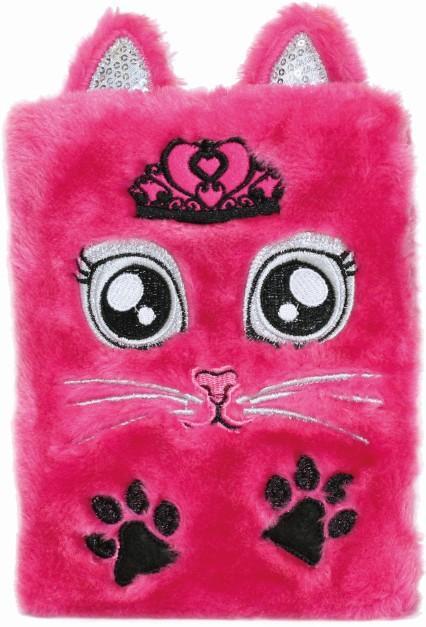 JIRI MODELS Deník plyšový holčičí Růžová kočka 160 stran