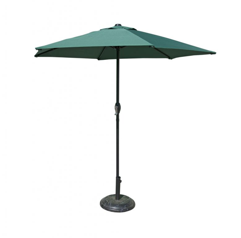 Slunečník 230 cm - tmavě zelený