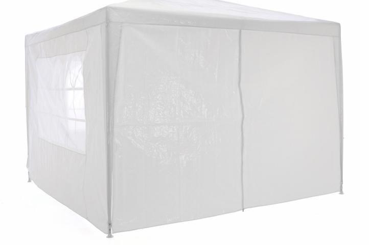 Zahradní  párty přístřešek klasický 3x3 + boční stěny - bílá