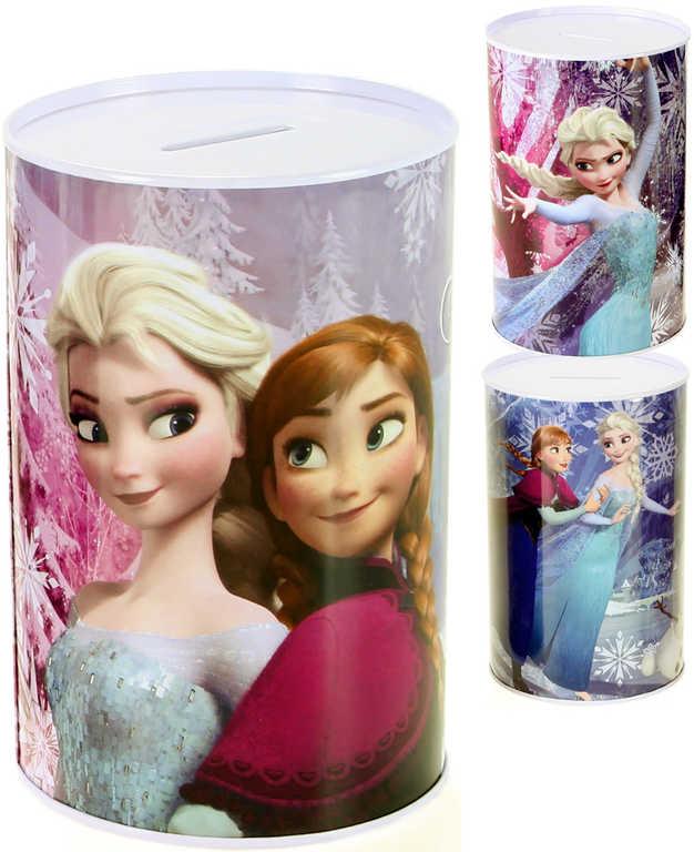 Pokladnička dětská plechová Frozen (Ledové Království) kasička kov 3 druhy
