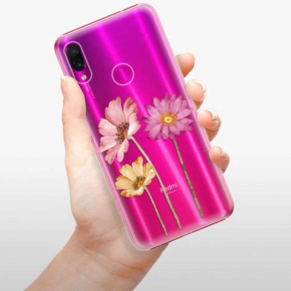 Plastové pouzdro iSaprio - Three Flowers - Xiaomi Redmi Note 7