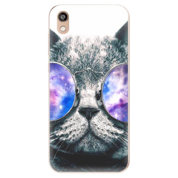 Odolné silikonové pouzdro iSaprio - Galaxy Cat - Huawei Honor 8S