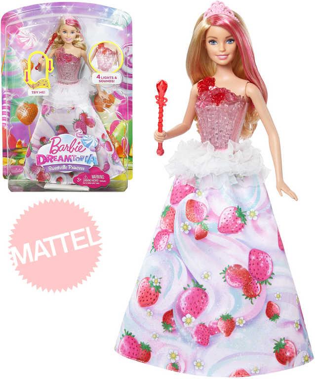 MATTEL BRB Panenka Barbie 29cm Dreamtopia princezna jahůdková Světlo Zvuk