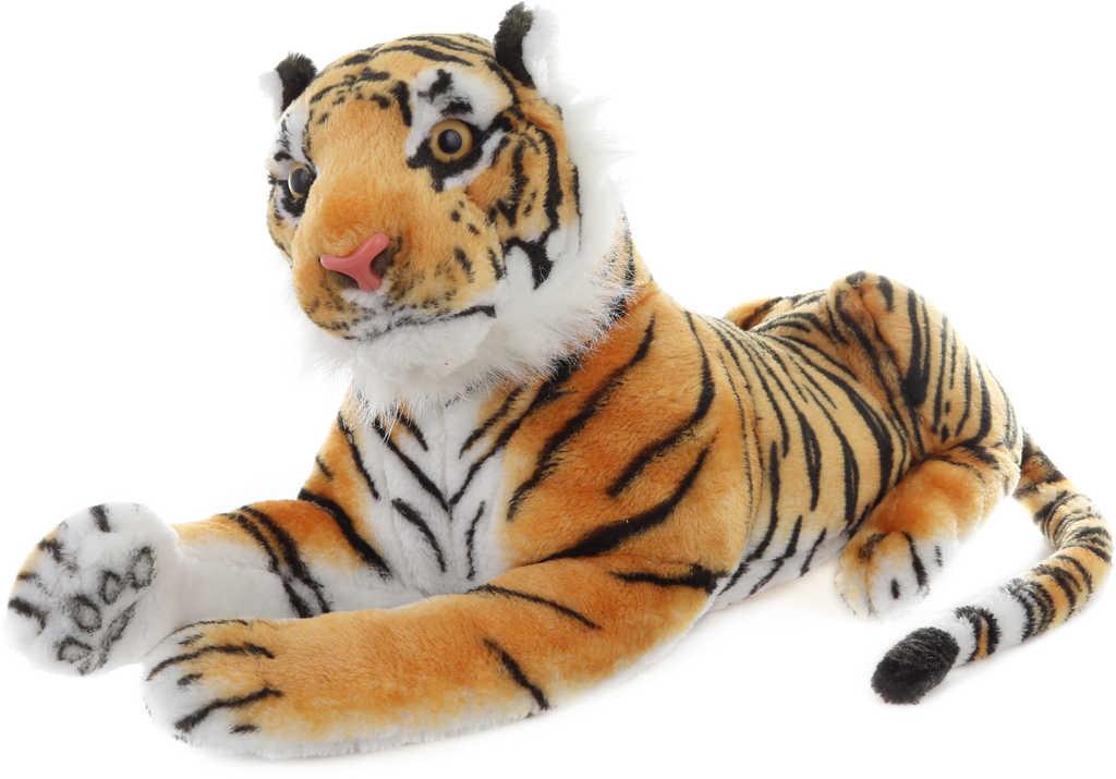 PLYŠ Tygr hnědý ležící 55cm *PLYŠOVÉ HRAČKY*