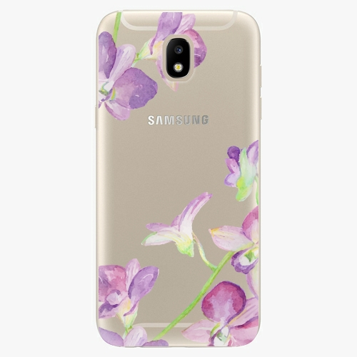 Silikonové pouzdro iSaprio - Purple Orchid - Samsung Galaxy J5 2017