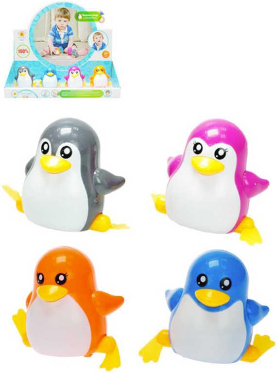 Baby tučňák plastový na klíček 7cm chodící 4 barvy