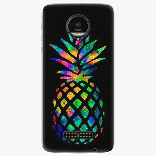 Plastový kryt iSaprio - Rainbow Pineapple - Lenovo Moto Z