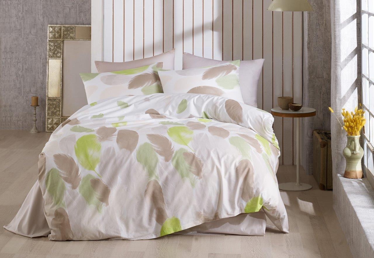 Povlečení bavlna 140x200, 70x90cm Nobles green, Výběr zapínání: - zipový uzávěr